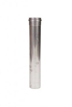 Kachelpijp 500mm Enkelwandig ZWART (80mm)