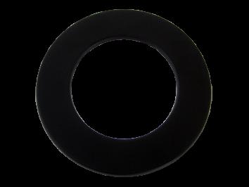 Rozet  staal  (150mm) Zwart 50 mm