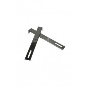 Afstandhouders RVS voor muurbeugel (80 mm)