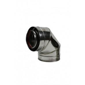 Concentrisch RVS bocht 90° graden Ø100-150mm