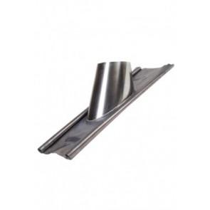 Concentrisch dakplaat hellend met loodlap 20-45°  Ø100-150mm