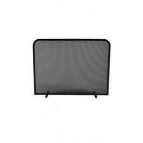 Vonkenscherm zwart 48 cm hoog 80 cm breed