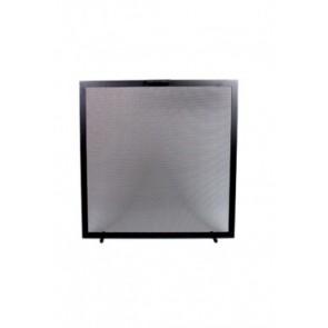 Vonkenscherm zwart 75 cm hoog 75 cm breed
