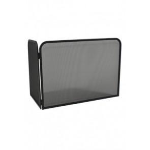 Vonkenscherm met linkerhoek zwart 48 cm hoog 76 cm breed 46 cm diep