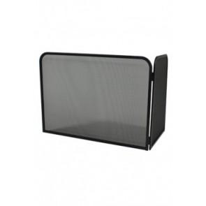 Vonkenscherm met rechterhoek zwart 48 cm hoog 66 cm breed 35 cm diep
