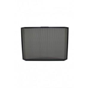Vonkenscherm panorama zwart 75,5 cm hoog 69/95 cm breed 10 cm diep