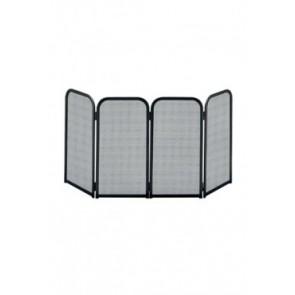 Vonkenscherm vierdelig zwart 48 cm hoog 4x 27 cm breed