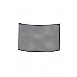 Vonkenscherm gebogen zwart 75 cm hoog 72 cm breed 15 cm diep