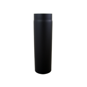 Kachelpijp 1000mm Dikwandig staal 2 mm (130 mm) Zwart