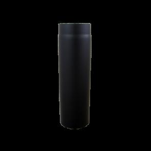 Kachelpijp 1000mm Dikwandig staal 2 mm (250 mm) Zwart