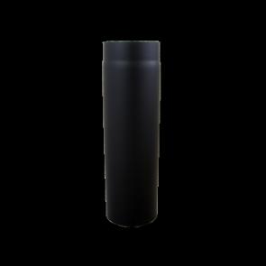 Kachelpijp 1000mm Dikwandig staal 2 mm (180mm) Zwart