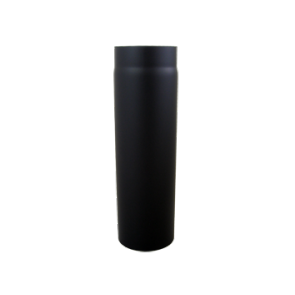 Kachelpijp 500 mm Dikwandig staal 2 mm (180mm) Zwart