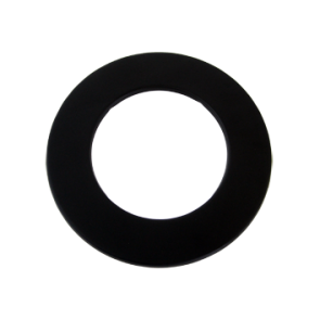 Rozet staal(150mm) Zwart 70mm