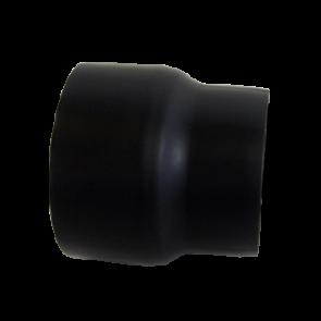 Dikwandig staal 2 mm verloop 130 Spie/150 Mof Zwart