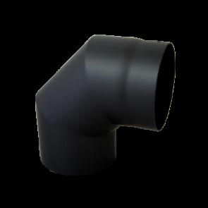 Bocht 90° Dikwandig staal 2 mm (150mm) Zwart