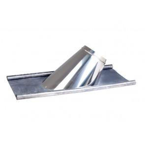 Concentrisch dakplaat hellend met loodlap 5-15°  Ø130-200mm