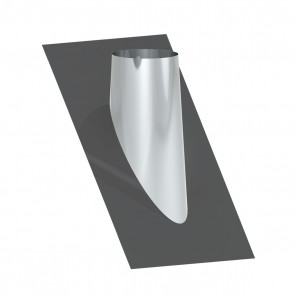 Dakplaat met loodlap 45 - 60 ° WW (130mm)