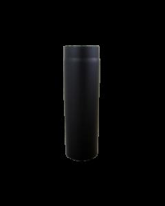 Kachelpijp 750mm Dikwandig staal 2 mm (130mm) Zwart