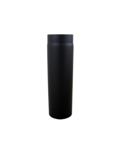 Kachelpijp 500mm Diklwandig staal 2 mm (130mm)  Zwart