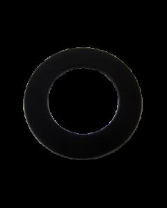 Rozet staal (130mm) Zwart 50 mm