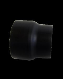 Dikwandig staal 2 mm verloop 120 Spie/150 Mof Zwart