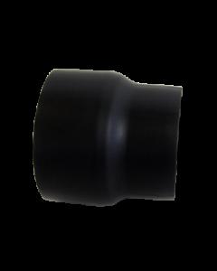 Dikwandig staal 2 mm verloop 180 Spie/150 Mof Zwart