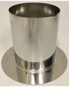 Nisbus (diepe schacht met aangelaste rozet) enkelwandig 150 mm