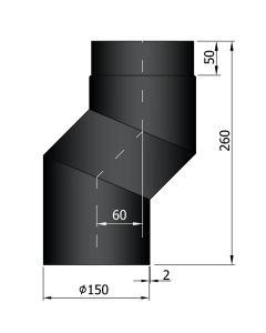 Bocht met verspringing 60 mm