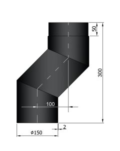 Bocht met verspringing 100 mm