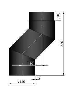 Bocht met verspringing 120 mm