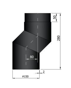 Bocht met verspringing 80 mm