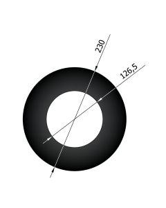Rozet 120 dikwandig staal zwart