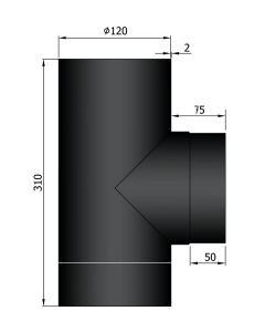 T-stuk dikwandig 120 mm